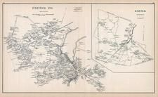 Exeter Town, Exeter, New Hampshire State Atlas 1892 Uncolored